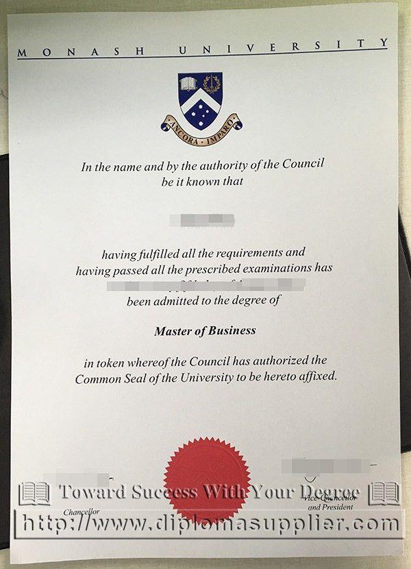 Monash University master of business degree, Monash University ...