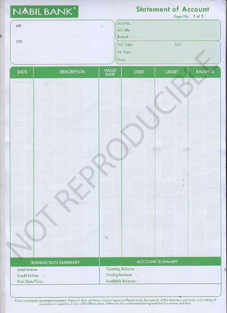 Bank Balance Certificate | KIEC