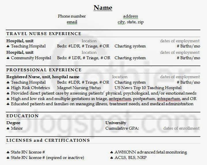 Download Travel Nurse Resume | haadyaooverbayresort.com