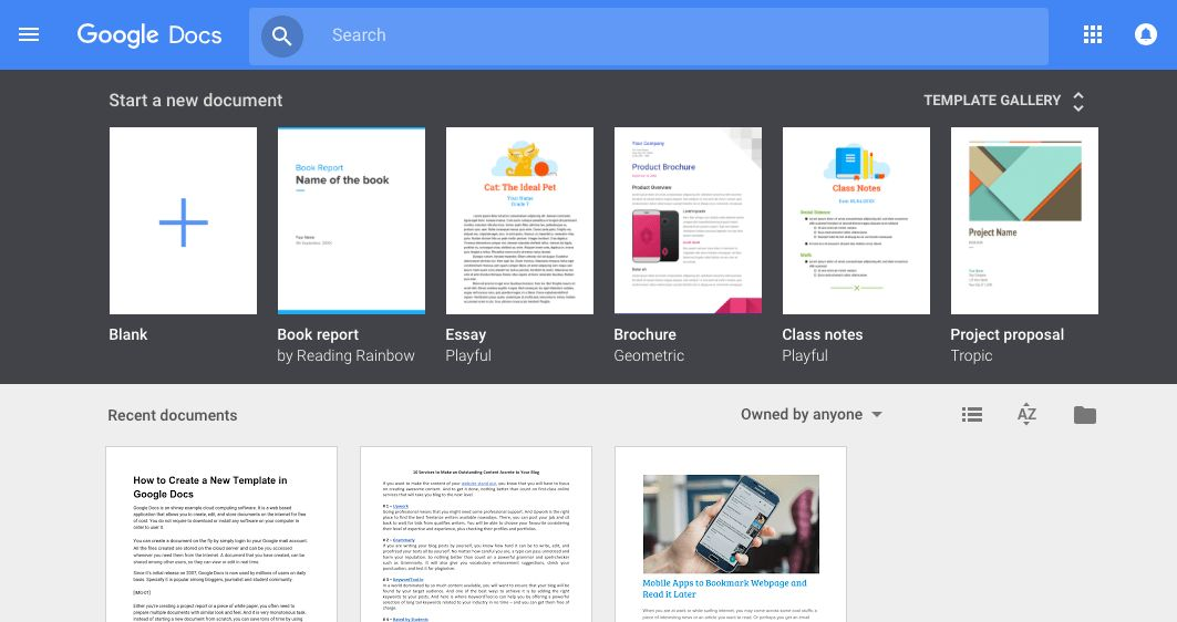 How to Create a New Template in Google Docs | StackTips