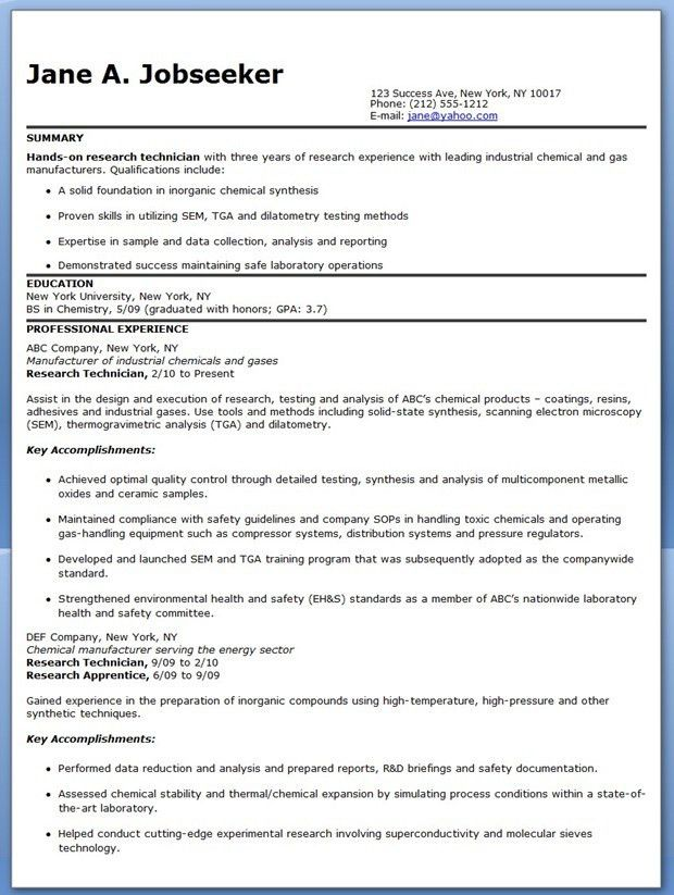 laboratory technician resume sample lab technician resume