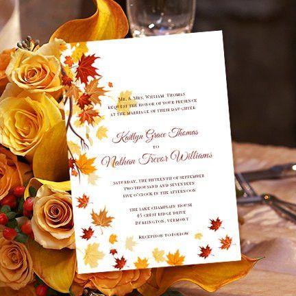 Printable Wedding Invitation Template Falling