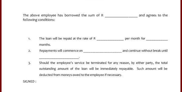 Business Loan Agreement Template South Africa Company Loan ...