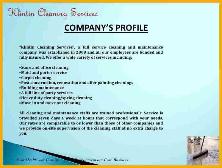 Cleaning services company profile pdf jmr company profile pdf copy 9 cleaning company profile sample bursary cover letter thecheapjerseys Images