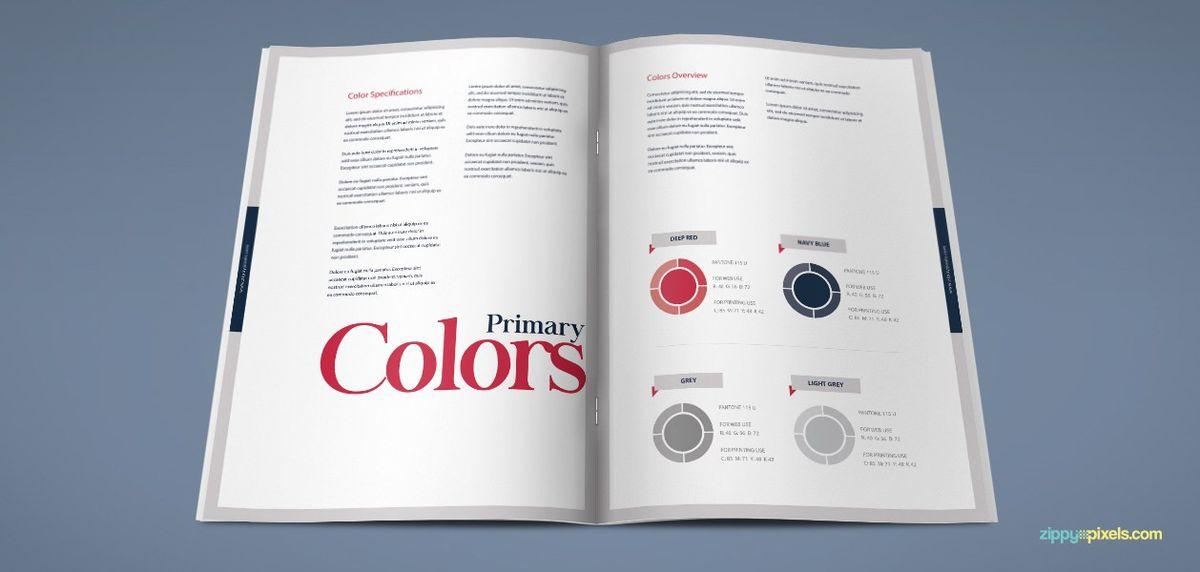 The Harmony – Free Brand Book Template - Creative Specks