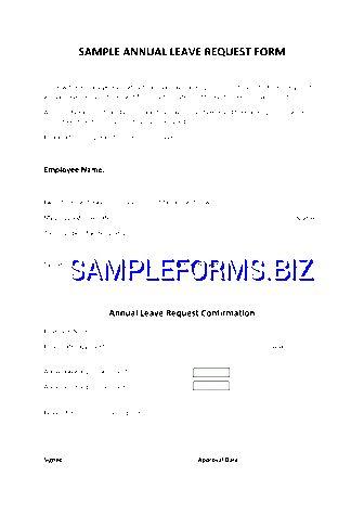 Leave Form Sample templates & samples