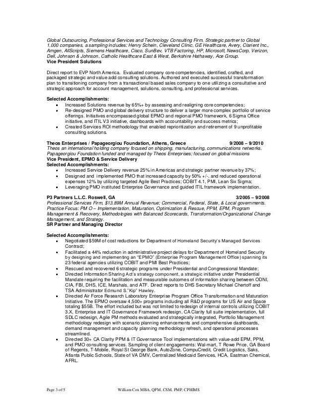 pmp sample resume sample management consultant resume pmp resume