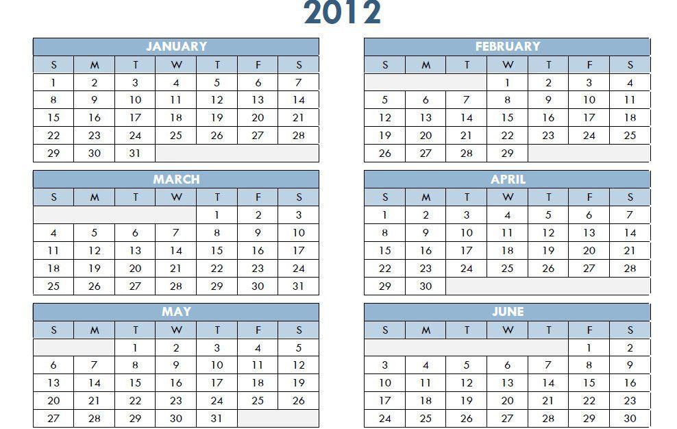 Printable PDF Calendar   Printable PDF Calendar Template