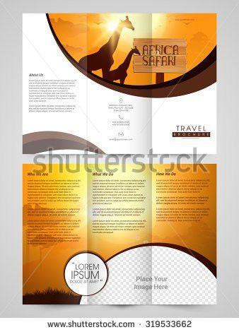 Creative Brochure Template Flyer Design Illustration Stock Vector ...