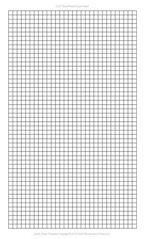 Graph Paper Template, 8.5x14 Legal Printable PDF
