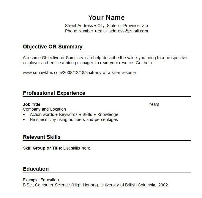 Download Chronological Sample Resume | haadyaooverbayresort.com