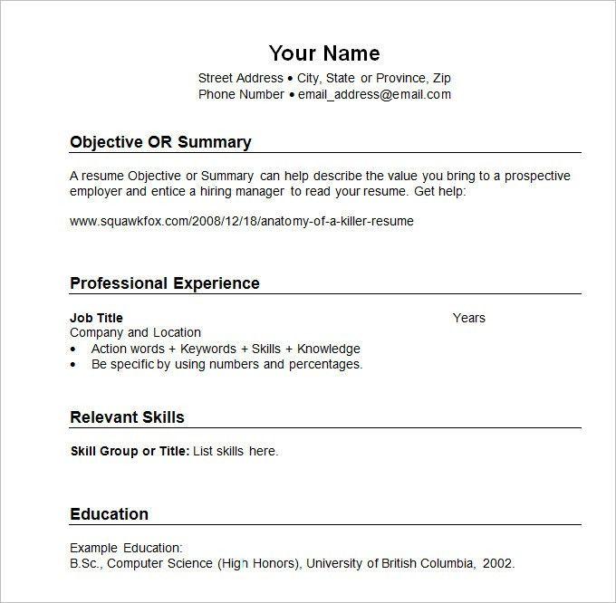 Chronological Resume Format - uxhandy.com