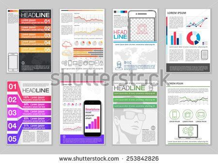 Set Brochure Template Infographic Elements Charts Stock Vector ...