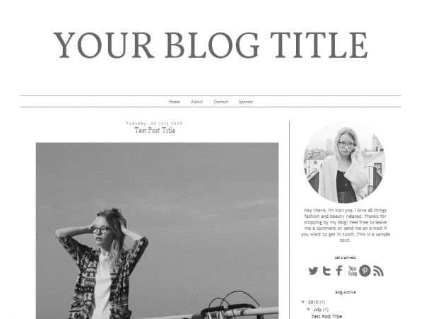 Download #FREE #Blogger #Template Design: Fashion Notebook - http ...