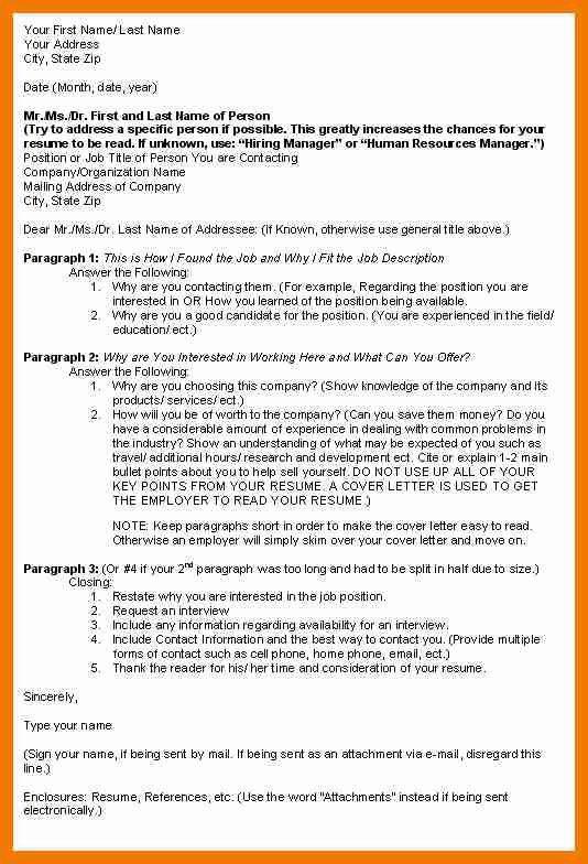 9+ outline for a cover letter | resume holder