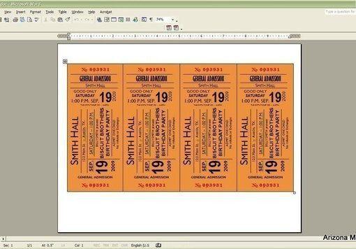Concert Ticket / Invitation - Ridge Light Ranch