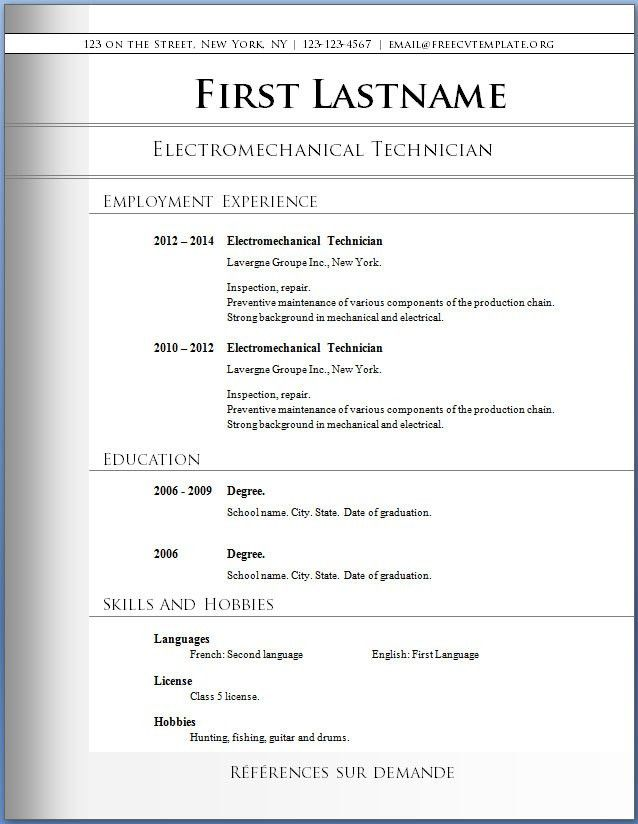 free basic resume templates free sample resume download. 12 more ...