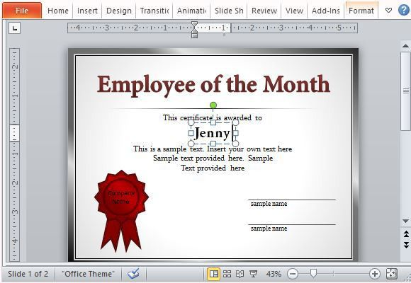 How To Make Employee of The Month Certificates