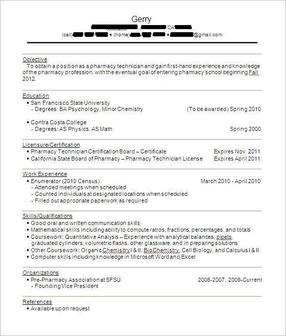 Healthcare Medical Resume Pharmacy Technician Cv Template With 25 ...