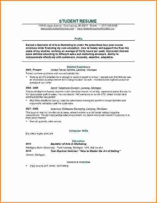 Resume For College Student. Resume College Application Resume ...