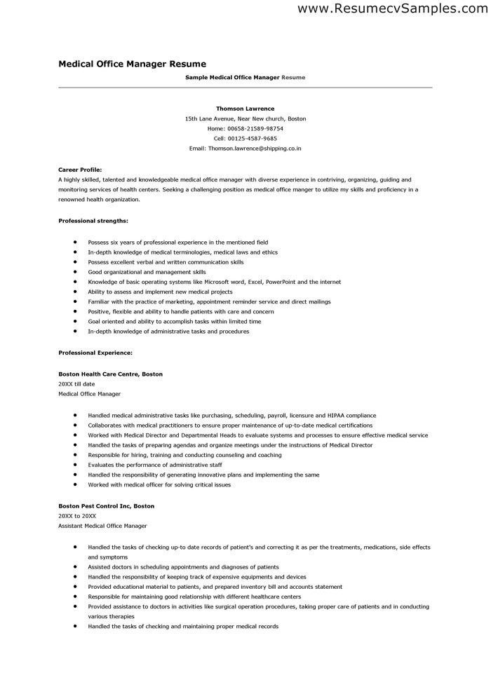 Office Manager Resume. Office Manager Resume Sample Professional ...