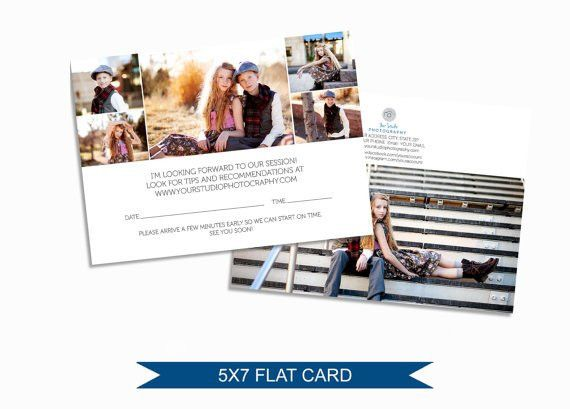 Photographer Client Reminder Card Mailer Template for