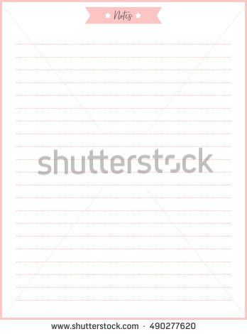 Clean Style Daily Planner Vector Template Stock Vector 541918138 ...
