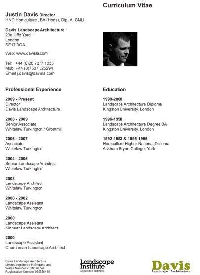 Our CV's | landscape architect's pages
