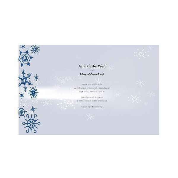 Free Winter Wedding Invitations for Publisher: Design Tips and ...