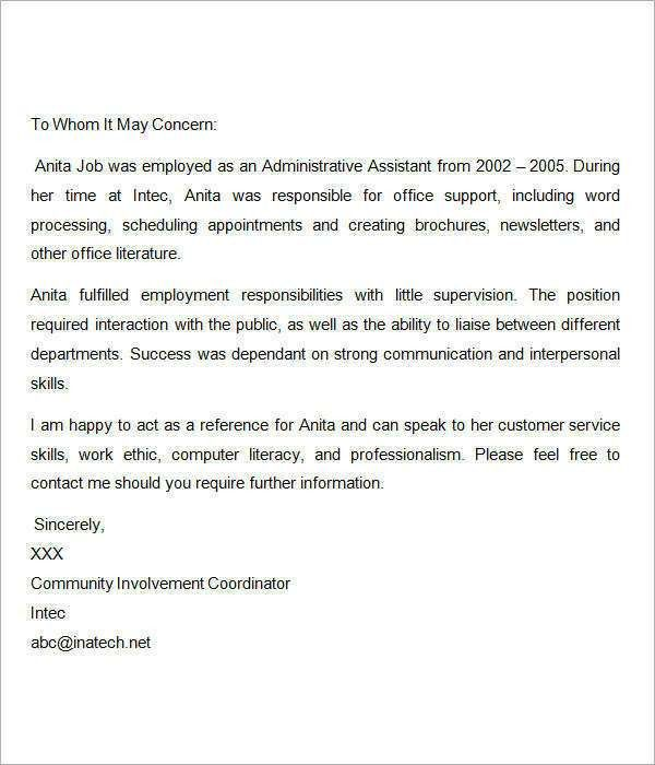 Nursing Job Recommendation Letter Sample - Mediafoxstudio.com