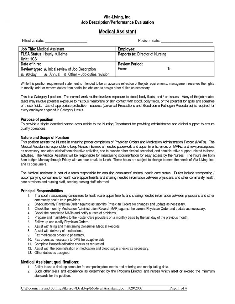 Medical Assistant Job Duties Registered Medical Assistant Job ...