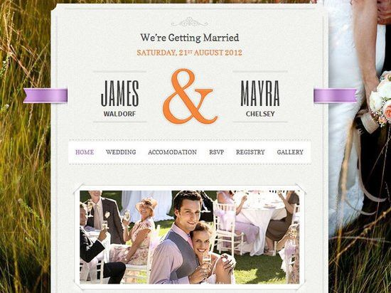 20 Best Wedding Website Templates (CSS/HTML & WordPress) | Ginva