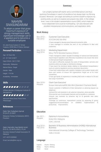 Customer Care Executive CV Örneği - VisualCV Özgeçmiş Örnekleri ...
