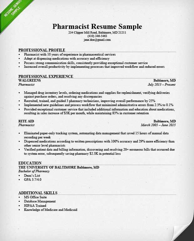 Peaceful Ideas Sample Pharmacist Resume 1 Pharmacist Resume Sample ...