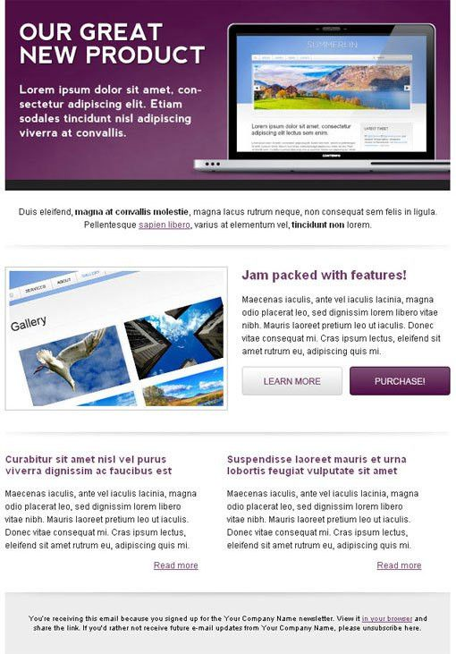 HTML Email Newsletter Templates