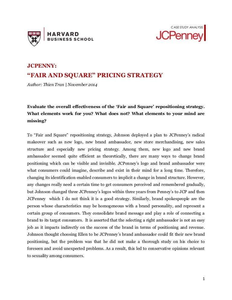 JCPenny's Fair and Square Strategy