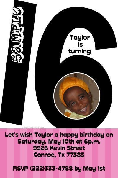 1207 best Girls Birthday Party Invitations images on Pinterest ...