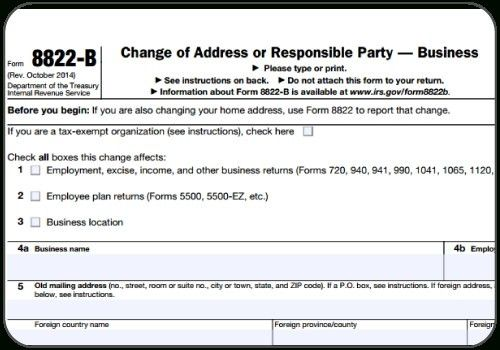 Irs Address Change Form | Business Form Templates