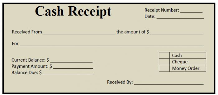 Cash Receipt Template : Selimtd