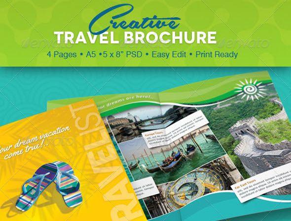 35+ Beautiful Travel Brochure Template Designs - Tutorial Zone