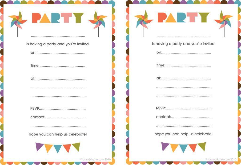Birthday Invites: Simple Printable Birthday Invitations Ideas ...