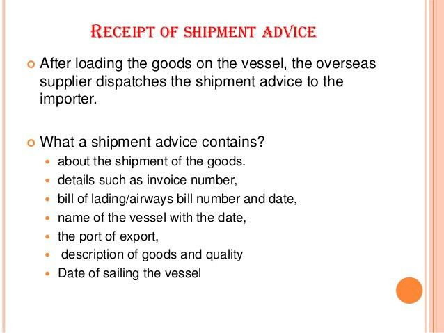 import procedures in India from foreign countries
