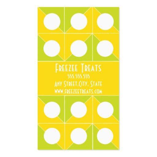 Frozen yogurt punch card template Business Card Templates ...