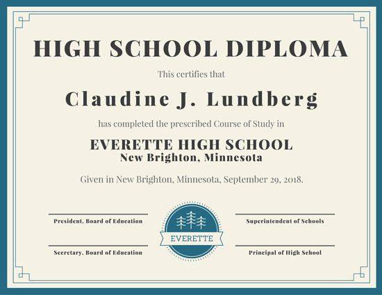 Diploma Word Template | Resumesample.csat.co