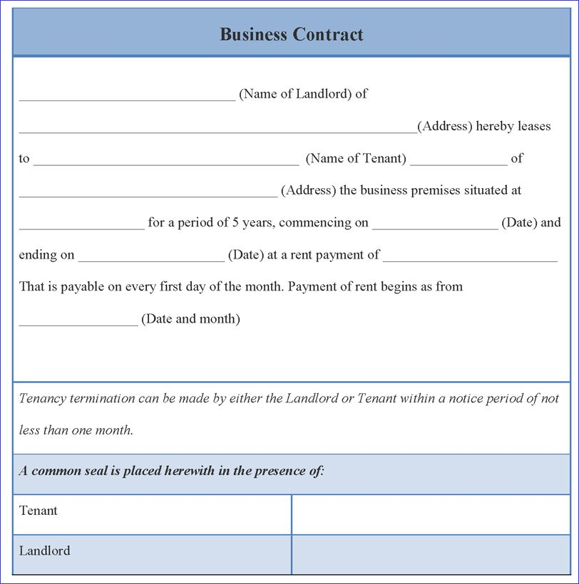 7+ business contract template | weeklyplanner.website
