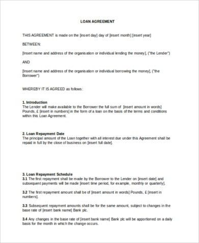 Sample Personal Loan Agreement - 8+ Free Documents in PDF, Doc