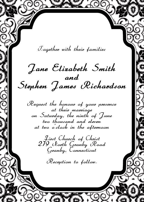 free downloadable invitation templates for word - Template