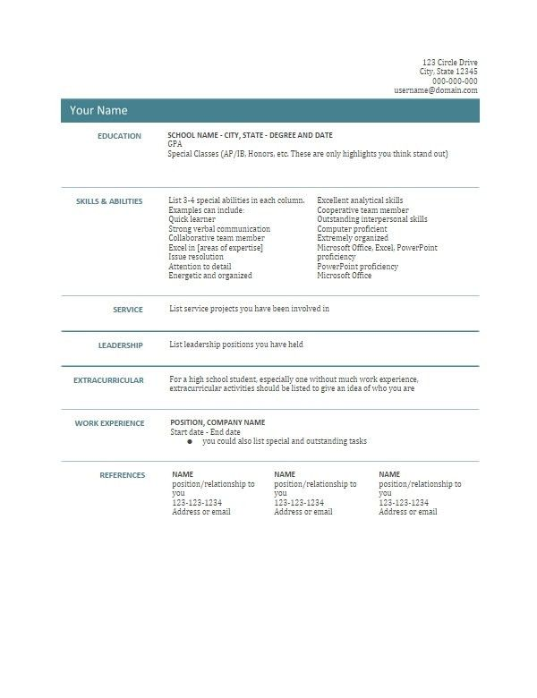 Download Google Resume Templates | haadyaooverbayresort.com