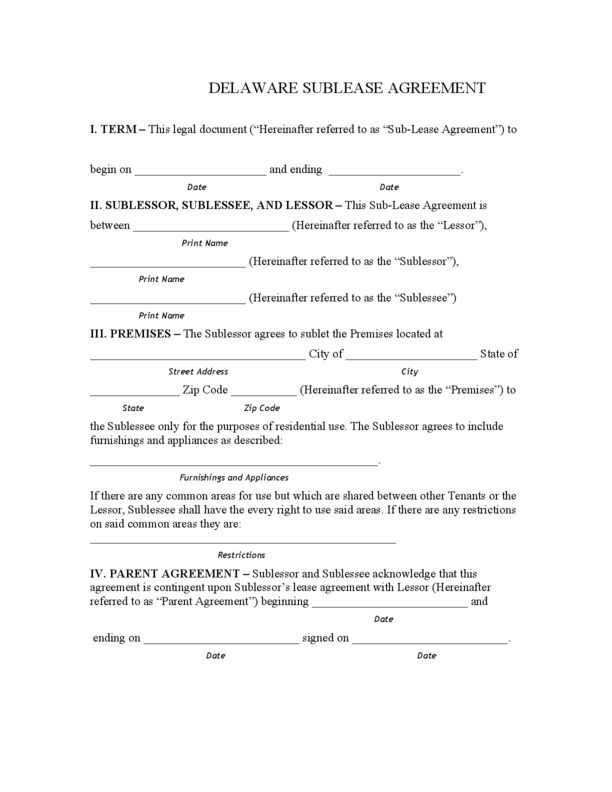 Delaware Rental Lease Agreement Templates | LegalForms.org