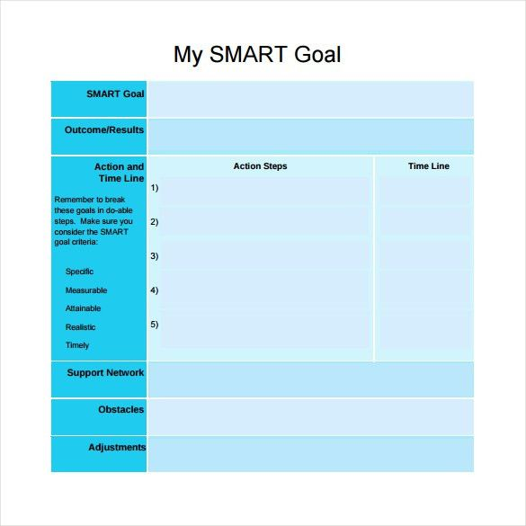 Smart Goals Template - 15+ Download Free Documents in PDF, Word, Excel